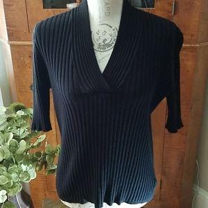 GEORGE Black Shortsleeve Summer Sweater